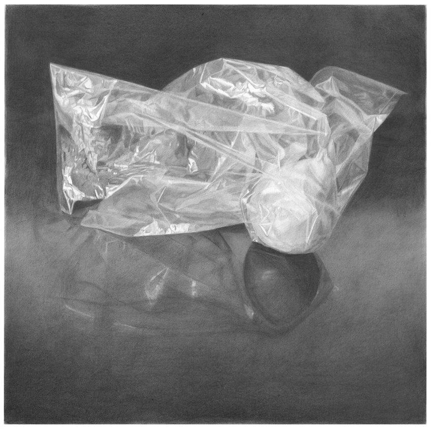 שקית אוכל ובה אגס 2 (Plastic Food Bag (with pear