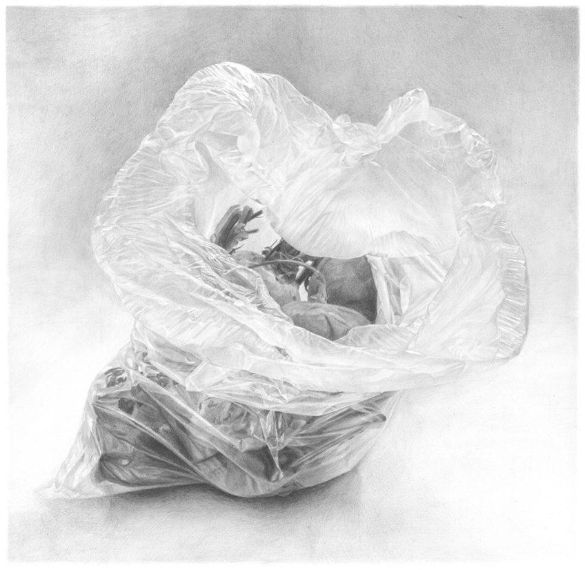 שקית ובה סלקים – Plastic bag with beets